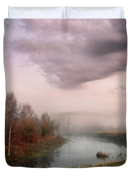 Morning By The Oxbow Duvet Cover