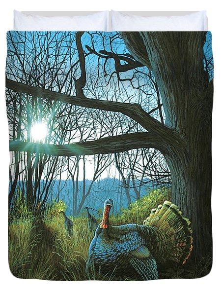 Morning Chat - Turkey Duvet Cover
