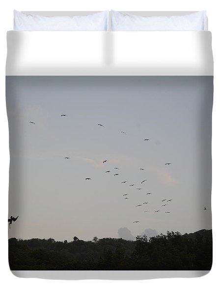 Morning Flock Rise Duvet Cover