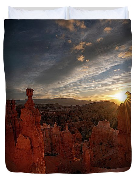 Duvet Cover featuring the photograph Morning Kiss by Edgars Erglis