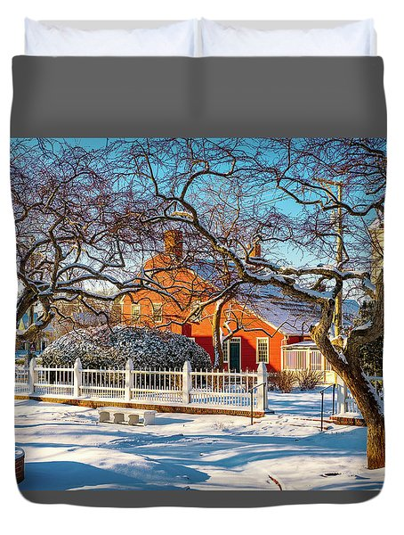 Morning Light, Winter Garden. Duvet Cover