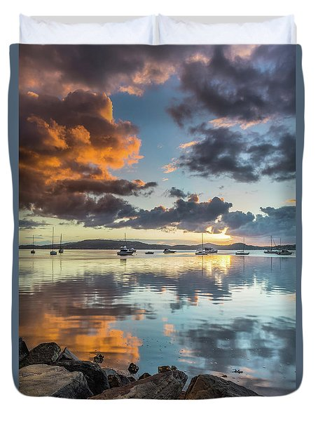 Morning Reflections Waterscape Duvet Cover