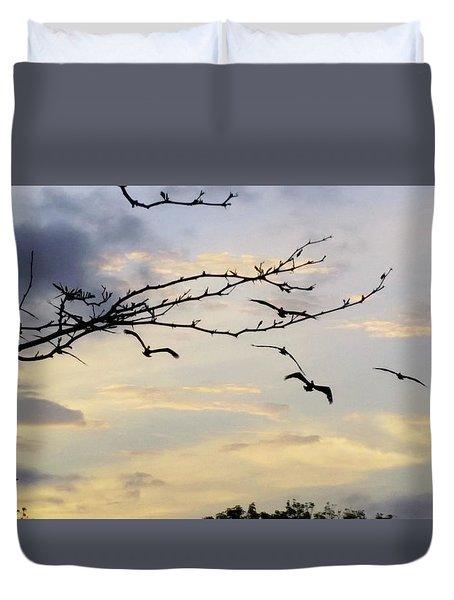 Morning Sky View Duvet Cover