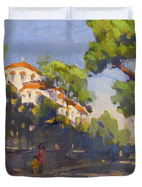 Morning Sunlight Athens Duvet Cover