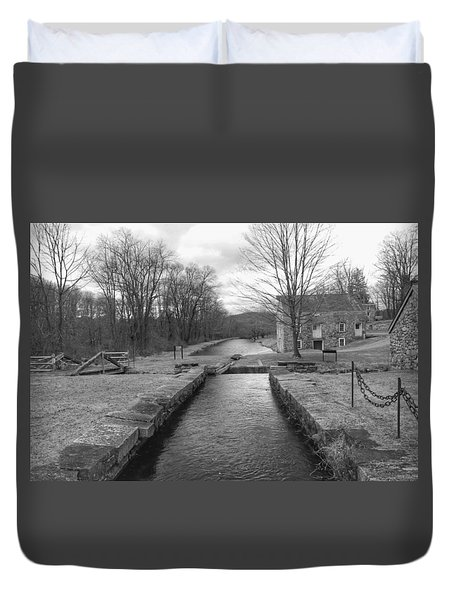 Morris Canal And Lock - Waterloo Village Duvet Cover