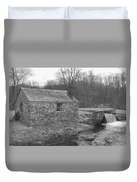 Morris Canal Lock House - Waterloo Village Duvet Cover