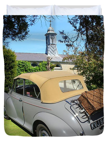 Morris Minor Grey Convertible Duvet Cover