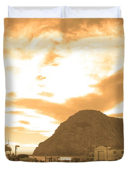 Morro Rock Sky Duvet Cover