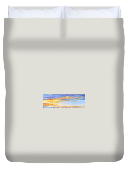 Duvet Cover featuring the painting Mortal by Mary K Conaboy