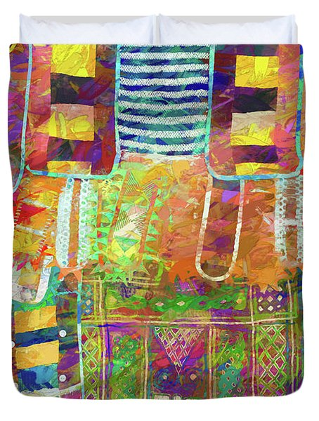 Mosaic Garden Duvet Cover