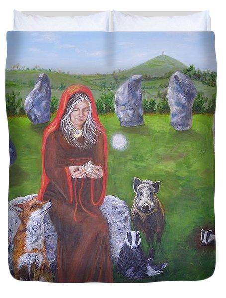 Mother Of Earth Goddess Brigantia Duvet Cover