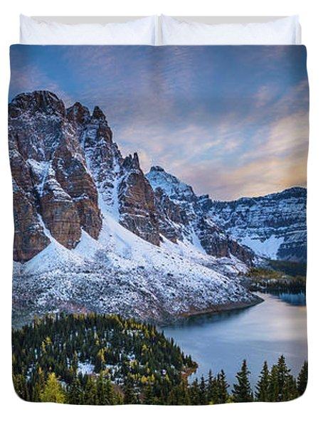 Mount Assiniboine Panorama Duvet Cover