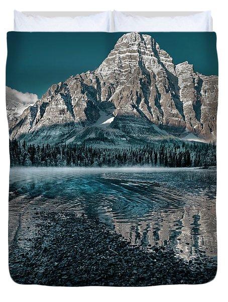 Mount Chephren Reflected Duvet Cover