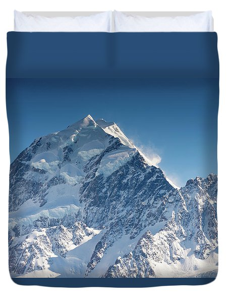Mount Cook Aoraki Summit Ridge Duvet Cover