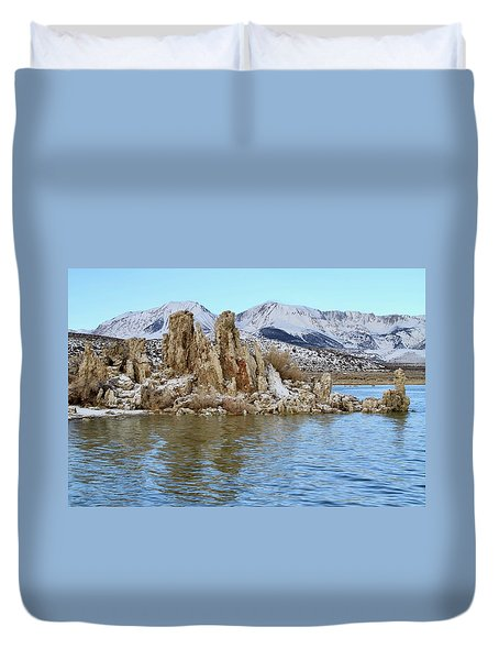 Mount Dana At Dawn  Mono Lake Duvet Cover