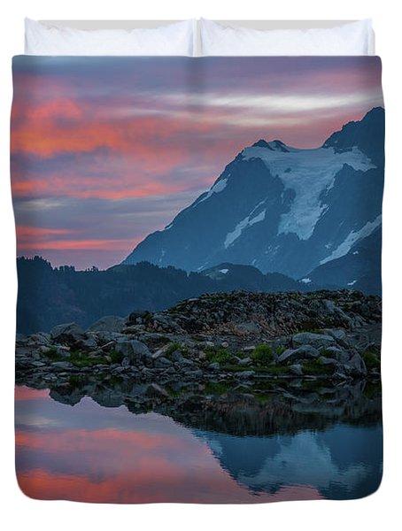Mount Shuksan Sunrise Fire Duvet Cover