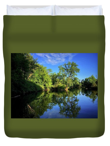 Duvet Cover featuring the photograph Mount Vernon Iowa by Dan Miller