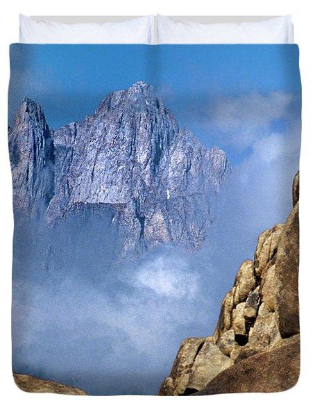 Mount Whitney Clearing Storm Eastern Sierras California Duvet Cover
