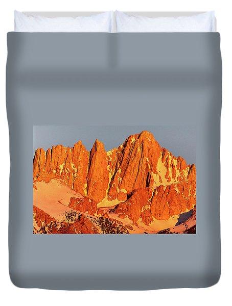 Mount Whitney Sunrise Duvet Cover