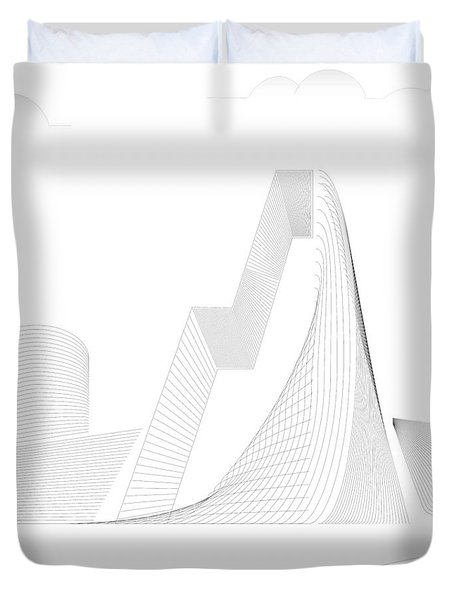 Mountain Gate Duvet Cover