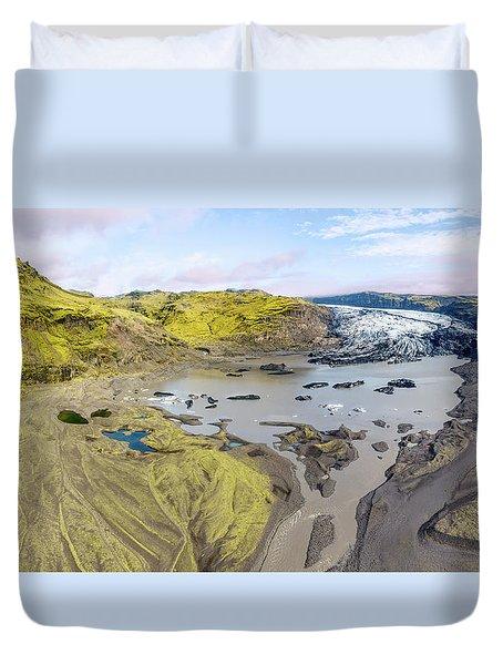 Mountain Glacier Duvet Cover