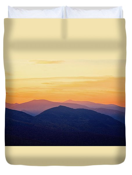 Mountain Light And Silhouette  Duvet Cover