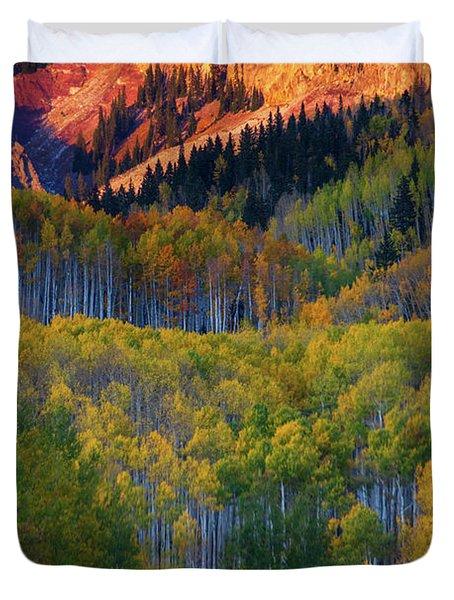 Mountain Light Duvet Cover