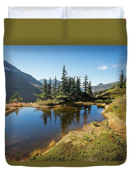 Mountain Pond Duvet Cover