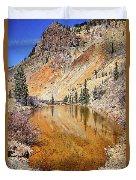 Duvet Cover featuring the photograph Mountain Reflections by Theo O'Connor