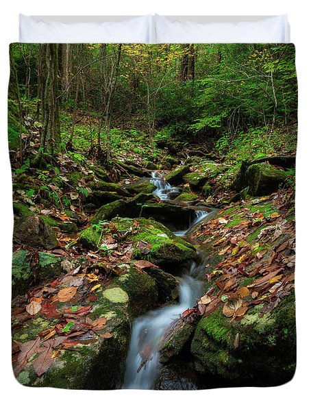 Mountain Stream - Blue Ridge Parkway Duvet Cover