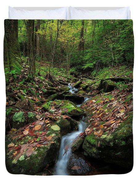 Mountain Stream - Blue Ridge Parkway Duvet Cover