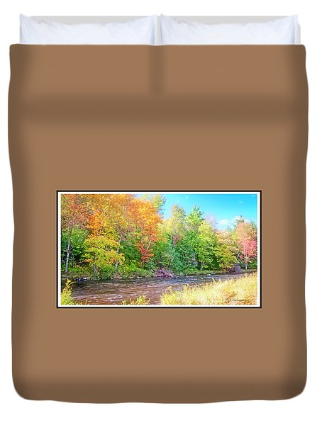 Mountain Stream In Early Autumn Duvet Cover