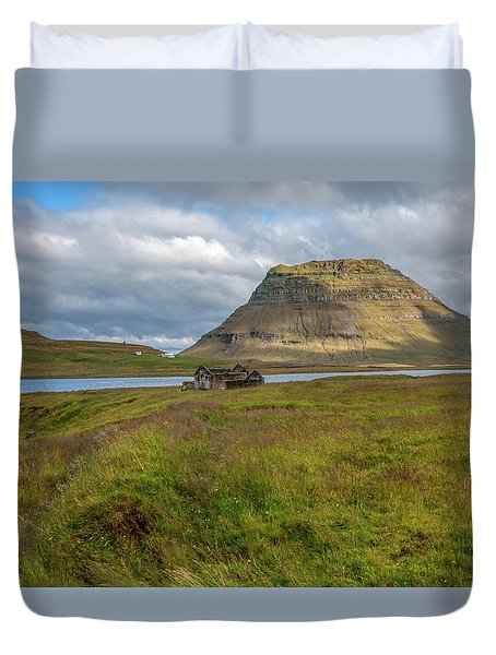 Mountain Top Of Iceland Duvet Cover