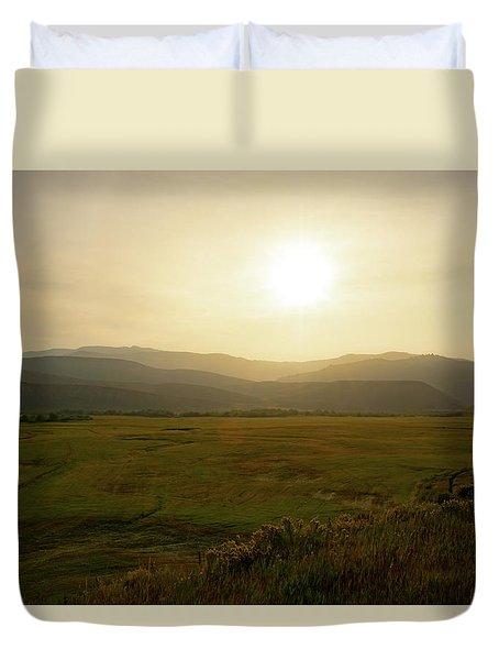 Mountains At Dawn Duvet Cover