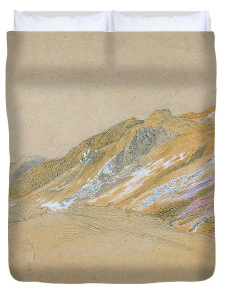 Mountains By The Traveller's Rest Near Dolgelly - Digital Remastered Edition Duvet Cover