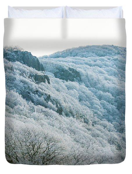 Mountainside Hoarfrost Duvet Cover