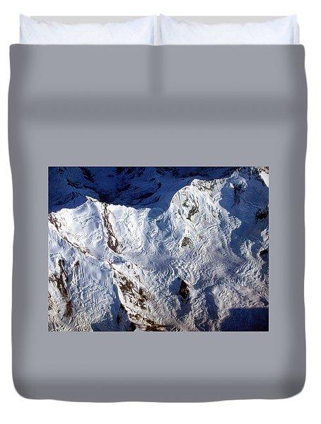 Mountaintop Snow Duvet Cover