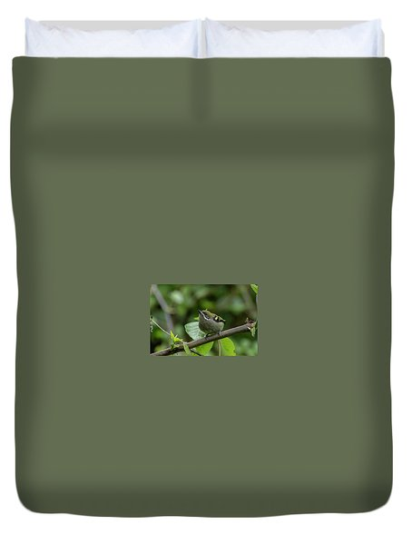 Moustached Tinkerbird Duvet Cover