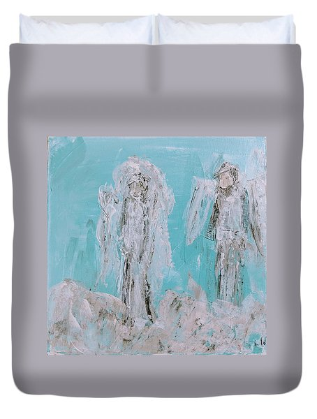 Mr And Mrs Angels Duvet Cover