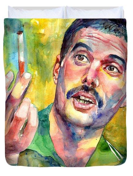 Mr Bad Guy - Freddie Mercury Portrait Duvet Cover