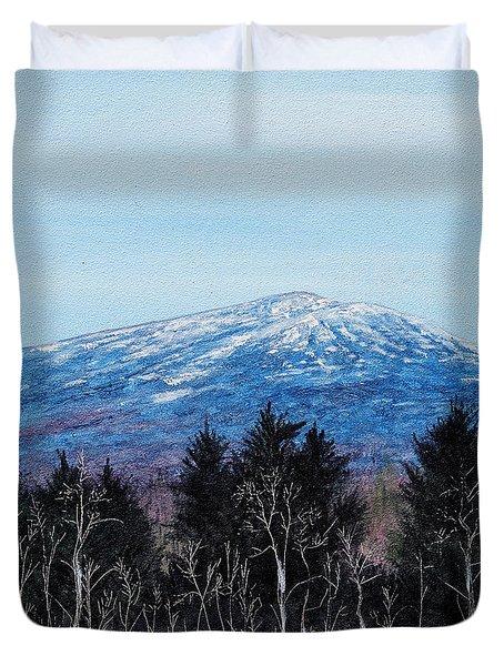 Mt. Monadnock Spring Snow Duvet Cover