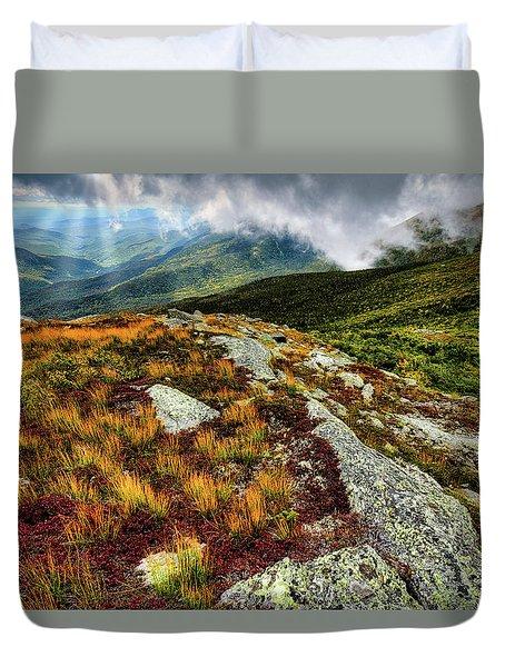 Mt. Washington Nh, Autumn Rays Duvet Cover
