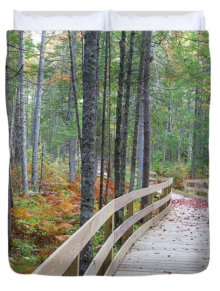 Mud Pond Trail - Pondicherry Wildlife Refuge, New Hampshire Duvet Cover