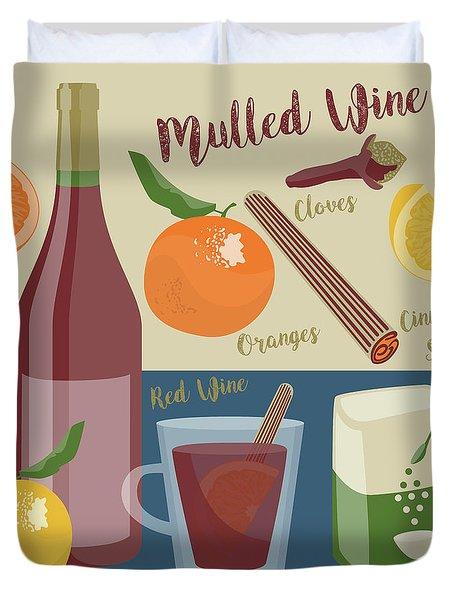 Mulled Wine Duvet Cover
