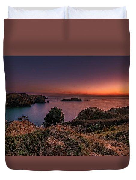 Mullion Cove - Sunset 2 Duvet Cover