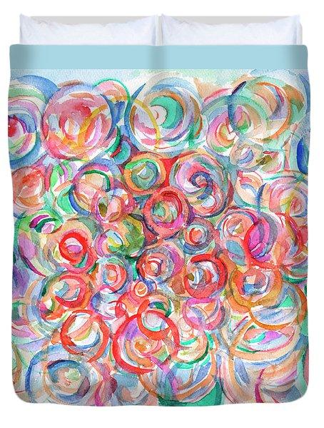 Multicolor Bubbles Duvet Cover