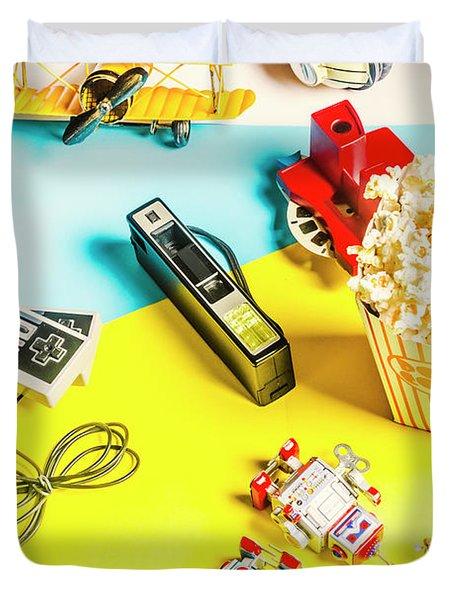 Multicolour Memorabilia Duvet Cover