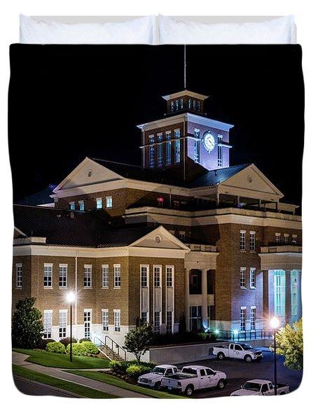 Municipal Center At Night - North Augusta Sc Duvet Cover