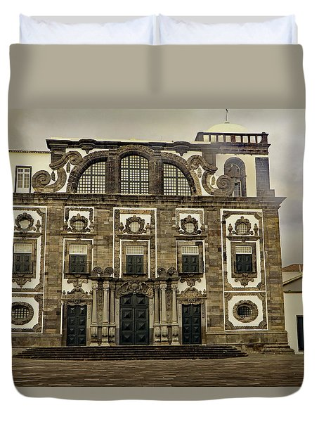 Duvet Cover featuring the photograph Museu Carlos Machado by Tony Murtagh