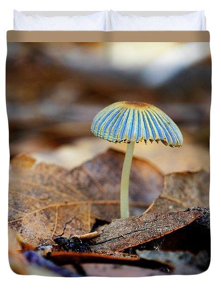 Mushroom Under The Oak Tree Duvet Cover